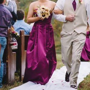 David's bridal bridesmaid dress.